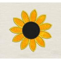 Sunflower Applique Embroidery Design