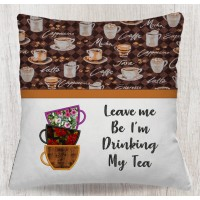 Tea Cups with Leave me reading pillow