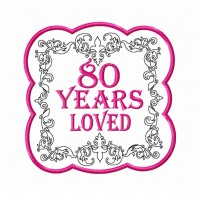 80 Years Loved Mug Rug Birthday Gifts for Women