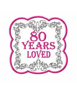 80 Years Loved Mug Rug Birthday Gifts for Women