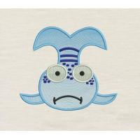 Pout Pout Fish embroidery