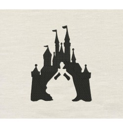 Cinderella Castle embroidery