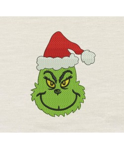 Grinch christmas embroidery V2