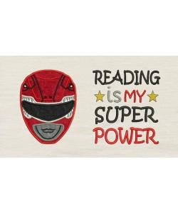 Power Ranger with Reading is My Superpower