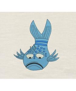 Pout Pout Fish v2 embroidery