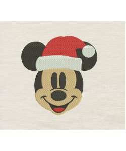 Mickey Christmas embroidery