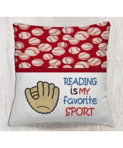 Reading is my favorite sport Baseball Glove