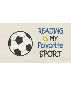 Reading is my favorite sport with Football