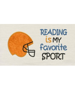 Reading is my favorite sport with Football Helmet