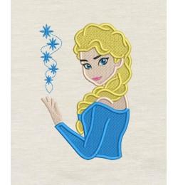 Elsa Frozen Embroidery v2