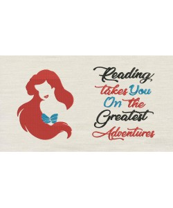 Little Mermaid Embroidery with reading takes you