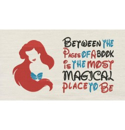 Little Mermaid Embroidery with Between the Pages