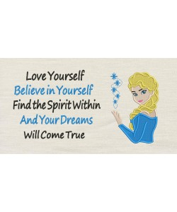 Elsa Frozen Embroidery v2 with Love yourself v2