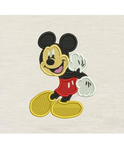 Mickey Mouse embroidery V2