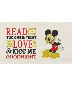 Mickey mouse embroidery V2 with read me a story