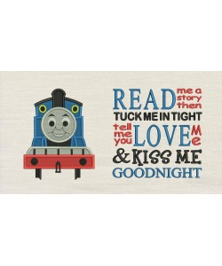 Thomas embroidery with read me a story