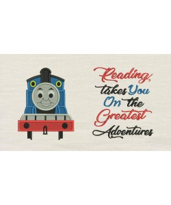 Thomas embroidery with reading takes you