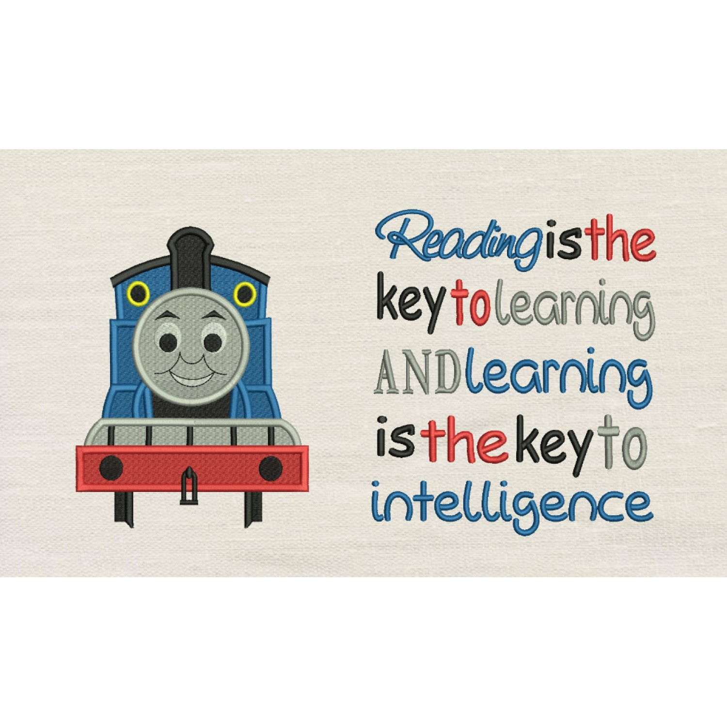Thomas embroidery with Reading is the key