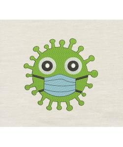 Virus v2 Embroidery