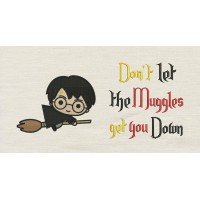 Harry potter Broom with don't let