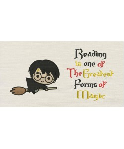 Harry potter Broom with Reading is one