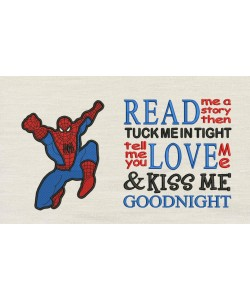 Spiderman grand with read me a story