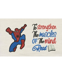 Spiderman grand with to strengthen embroidery
