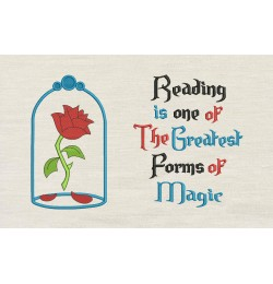 Belle Rose with reading is one
