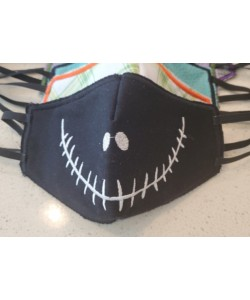 Face Mask jack skellington For kids and adult in the hoop embroidery