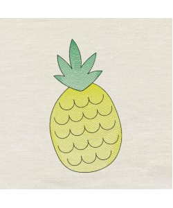 Pineapple V2 embroidery