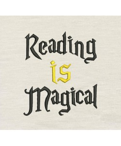 Reading is Magical embroidery
