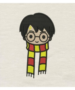 Harry potter scarf embroidery