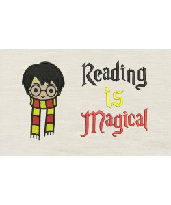 Harry potter scarf with Reading is Magical