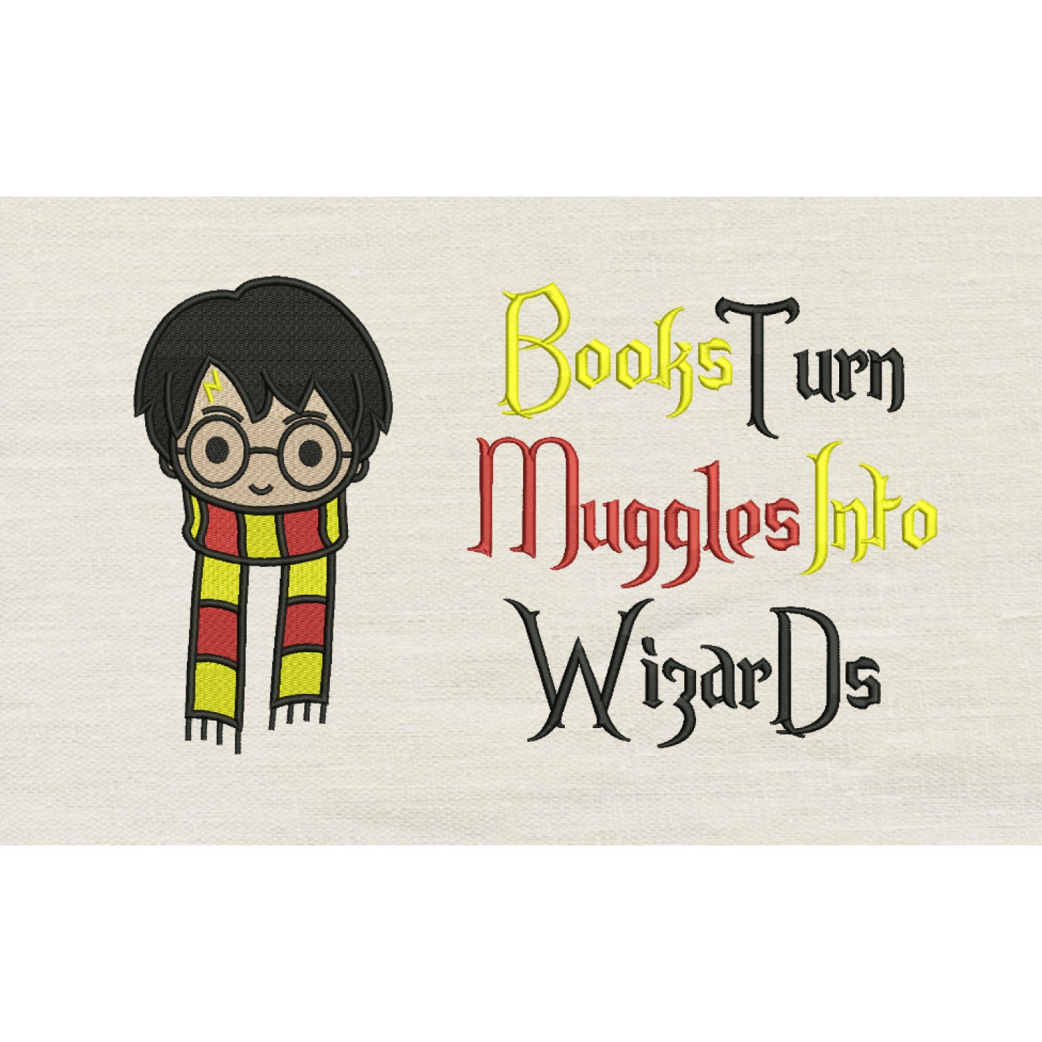 Harry potter scarf with Books turn