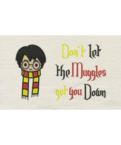 Harry potter scarf with don't let