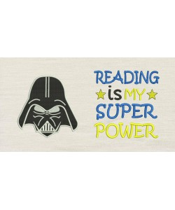 Star Wars embroidery with reading is my super power