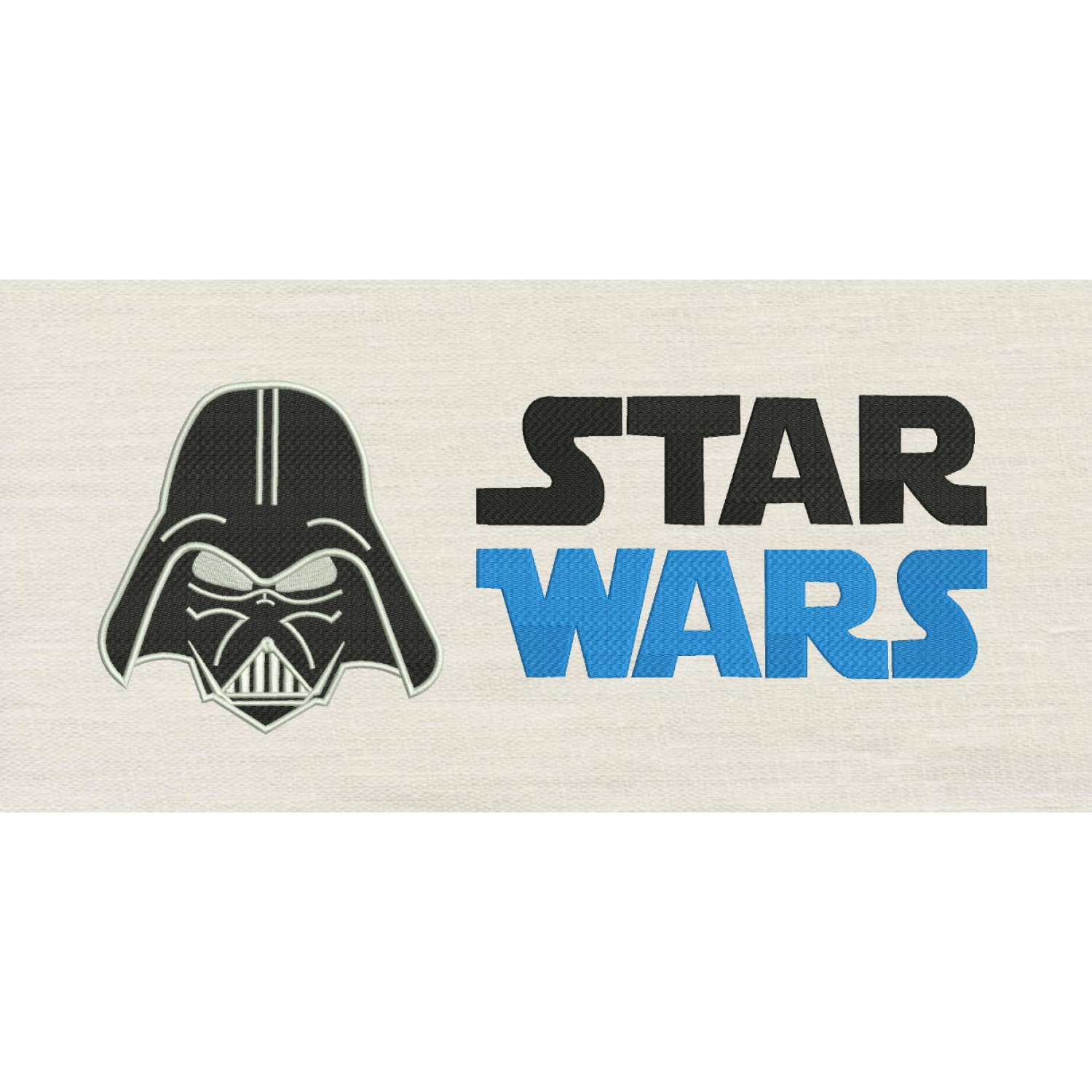 Star Wars Name with Star Wars embroidery