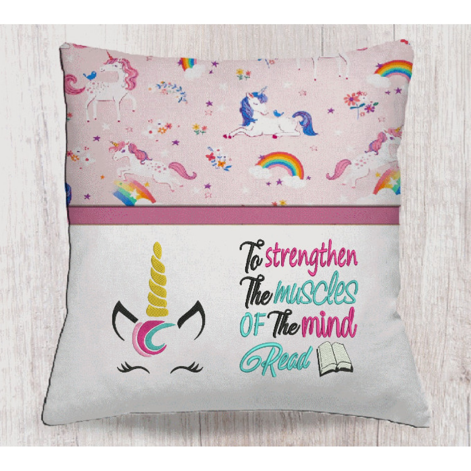 Unicorn jeune embroidery with To strengthen