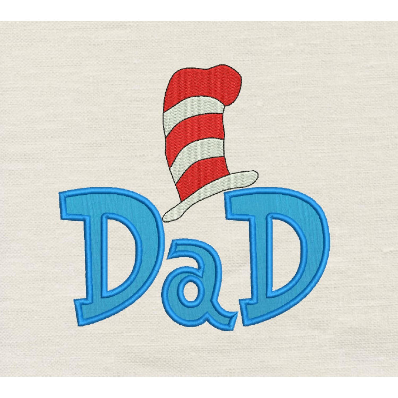 Dad Dr- Seuss Hat Applique