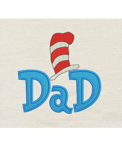 Dad Dr- Seuss Hat Applique