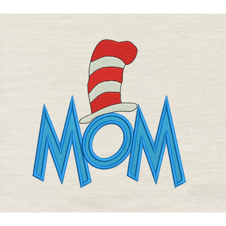 Mom Dr- Seuss Hat Applique