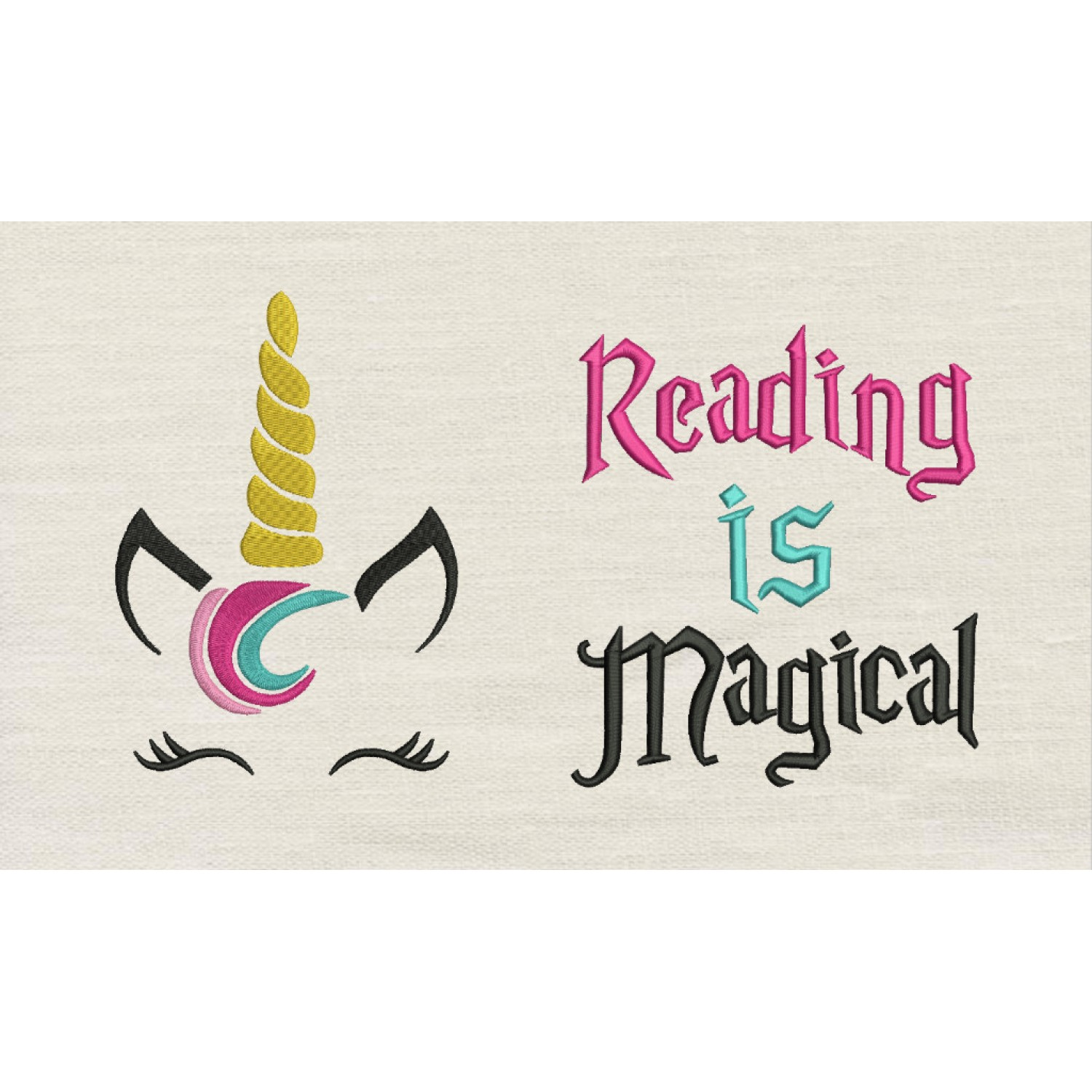Unicorn Jeune with Reading is Magical