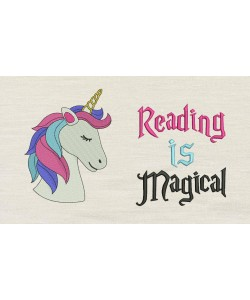 Unicorn Nas with Reading is Magical