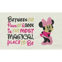 Minnie mouse embroidery Between the Pages