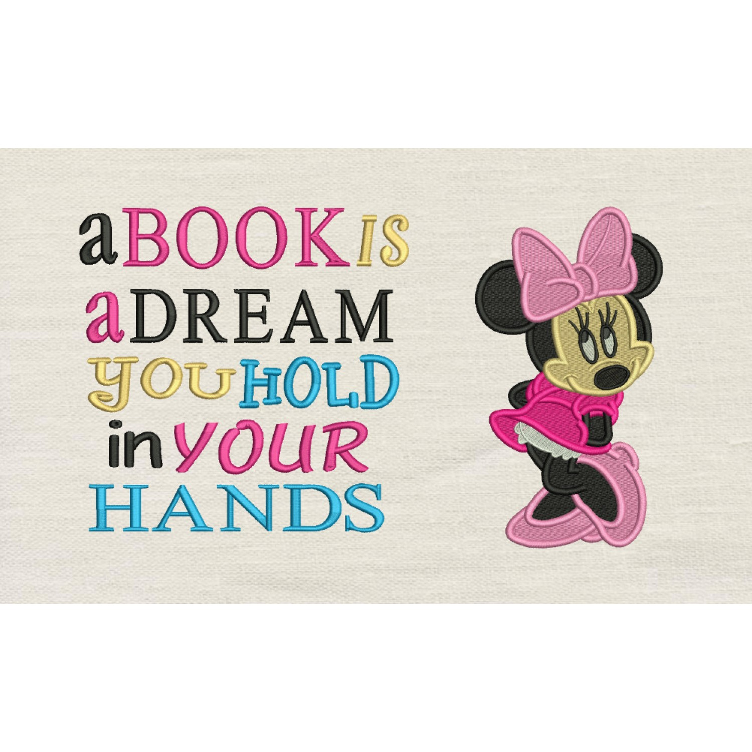 Minnie mouse embroidery a book is a deram