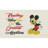 Mickey mouse embroidery V2 with reading takes you
