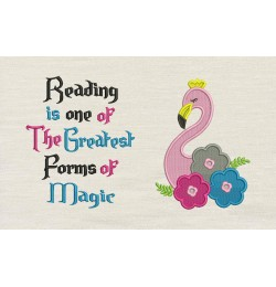 Flamingo embroidery flowers Reading is one