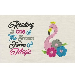 Flamingo embroidery flowers Reading is one of