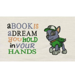 Rocky embroidery A book is a dream