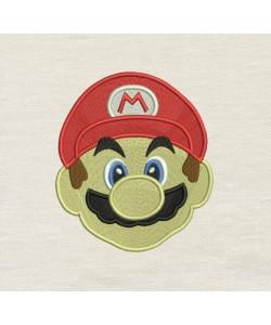 Mario Embroidery v2 embroidery design